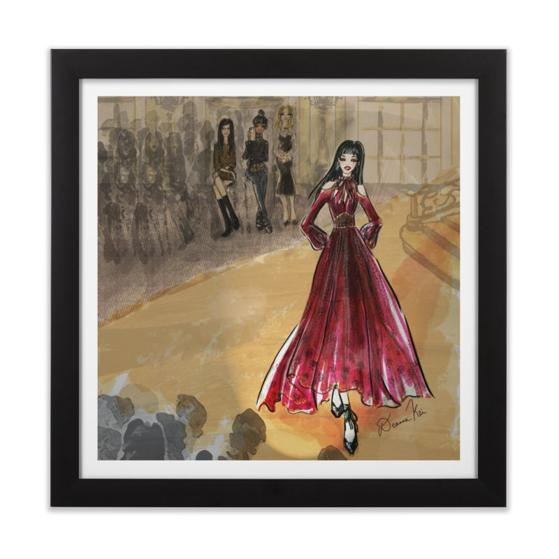 Fashion Week Runway Home Framed Fine Art Print by Deanna Kei's Artist Shop