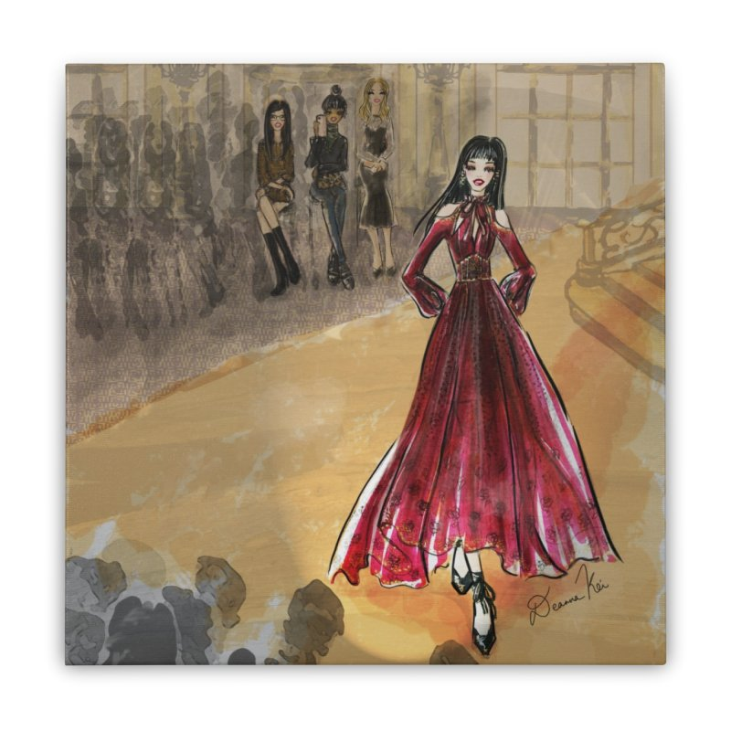 Fashion Week Runway Home Stretched Canvas by Deanna Kei's Artist Shop