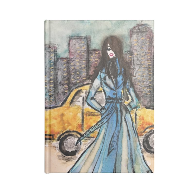 Big City Vibes Accessories Lined Journal Notebook by Deanna Kei's Artist Shop