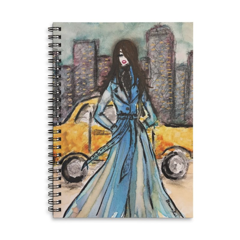 Big City Vibes Accessories Lined Spiral Notebook by Deanna Kei's Artist Shop