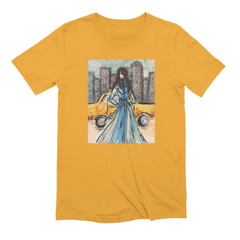 Big City Vibes Men's Extra Soft T-Shirt by Deanna Kei's Artist Shop