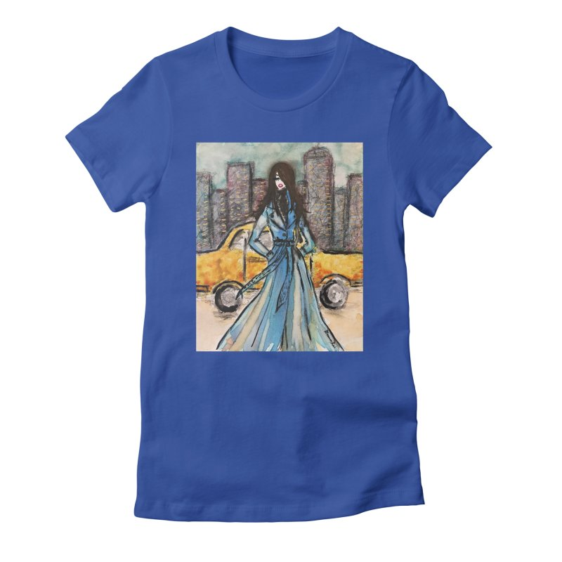 Big City Vibes Women's Fitted T-Shirt by Deanna Kei's Artist Shop