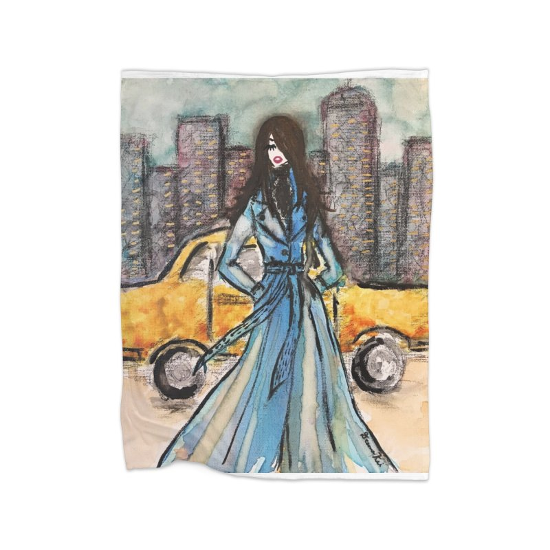 Big City Vibes Home Fleece Blanket Blanket by Deanna Kei's Artist Shop