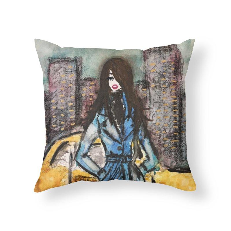Big City Vibes Home Throw Pillow by Deanna Kei's Artist Shop