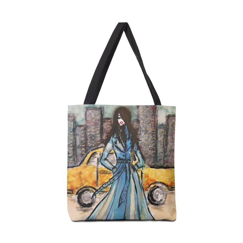 Big City Vibes Accessories Tote Bag Bag by Deanna Kei's Artist Shop