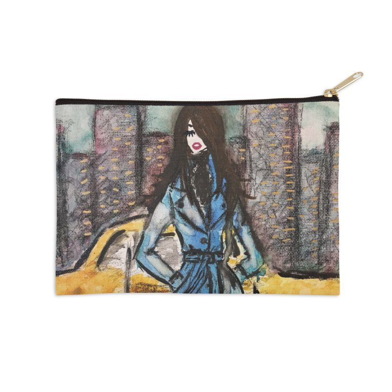 Big City Vibes Accessories Zip Pouch by Deanna Kei's Artist Shop