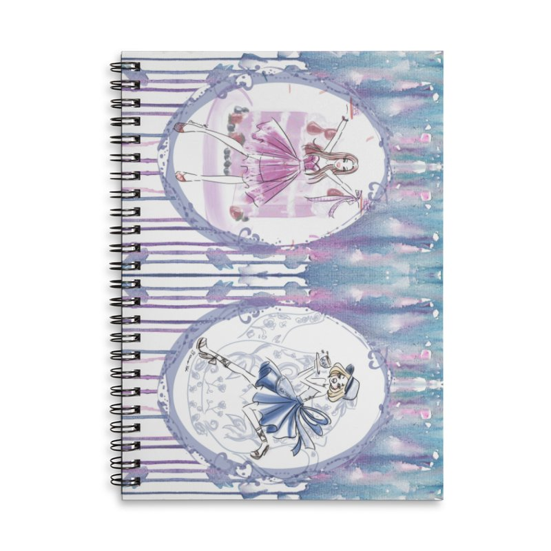 Springtime Tea Party Accessories Lined Spiral Notebook by Deanna Kei's Artist Shop