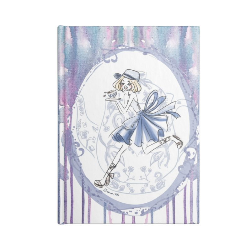Springtime Tea Party Accessories Lined Journal Notebook by Deanna Kei's Artist Shop