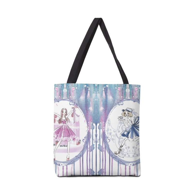 Springtime Tea Party Accessories Tote Bag Bag by Deanna Kei's Artist Shop