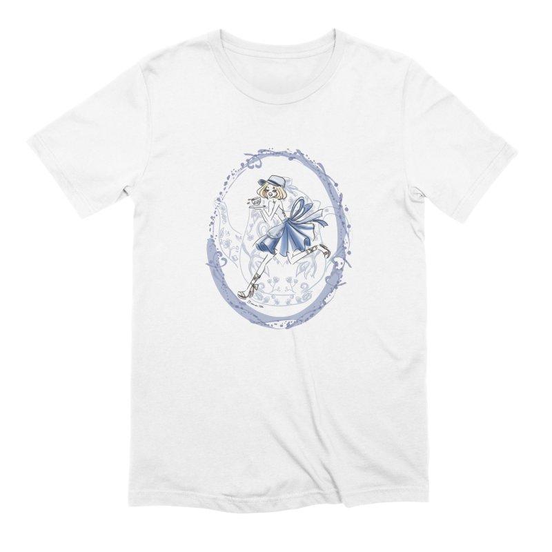Springtime Tea Party Men's Extra Soft T-Shirt by Deanna Kei's Artist Shop