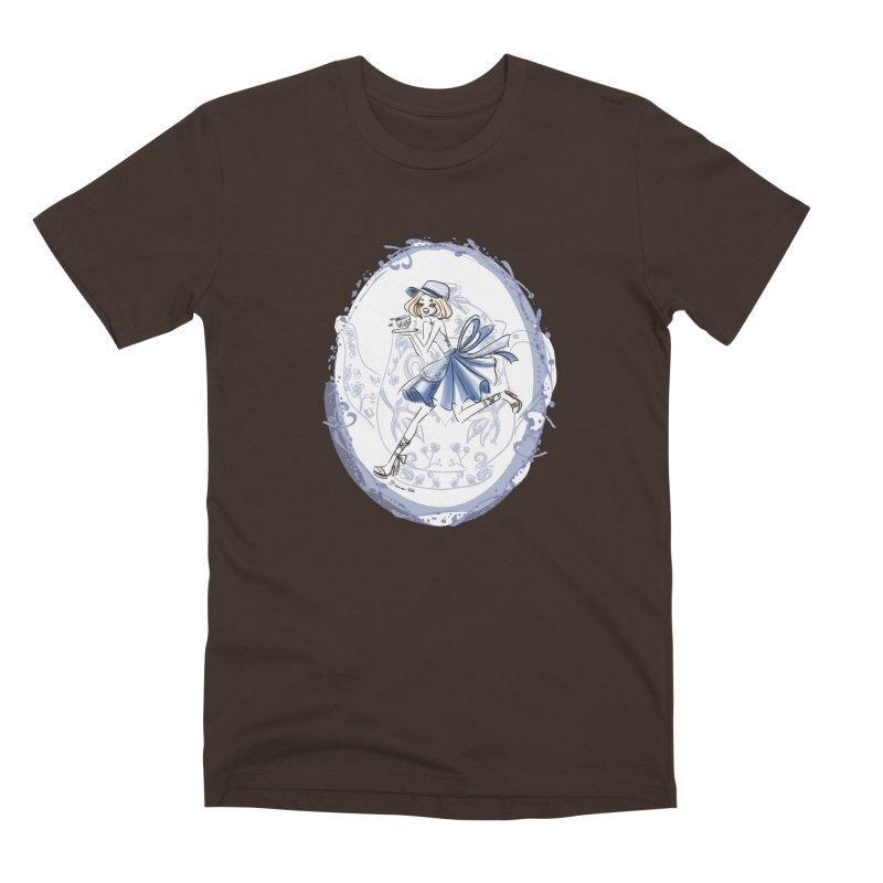 Springtime Tea Party Men's Premium T-Shirt by Deanna Kei's Artist Shop