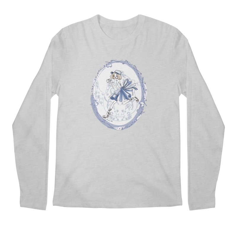 Springtime Tea Party Men's Regular Longsleeve T-Shirt by Deanna Kei's Artist Shop