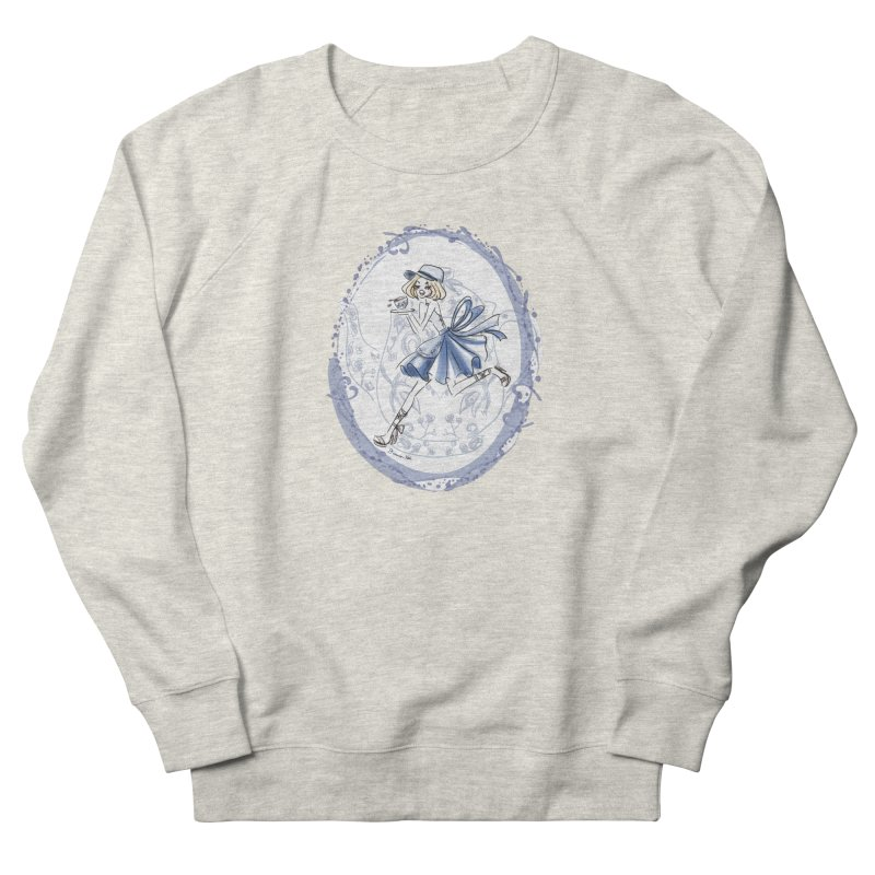 Springtime Tea Party Women's French Terry Sweatshirt by Deanna Kei's Artist Shop