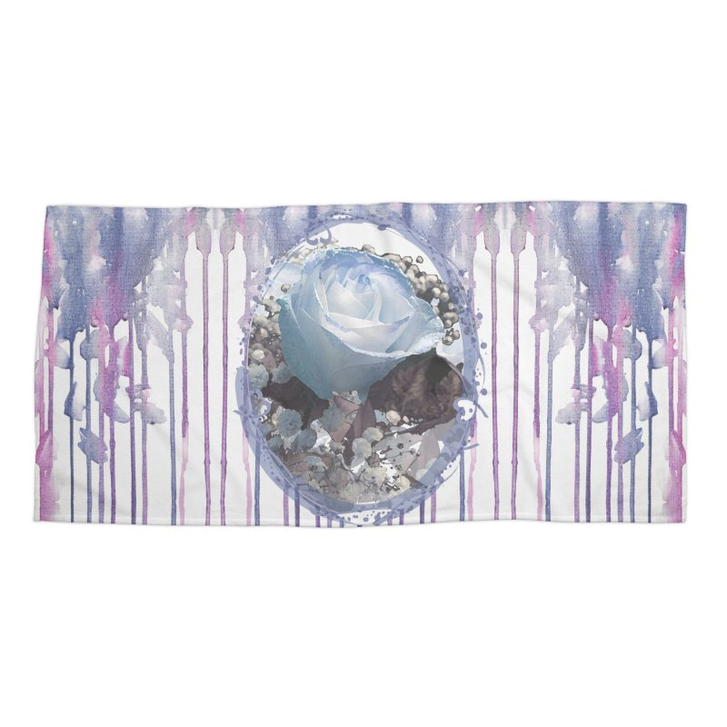 Blue Spring Rose Accessories Beach Towel by Deanna Kei's Artist Shop