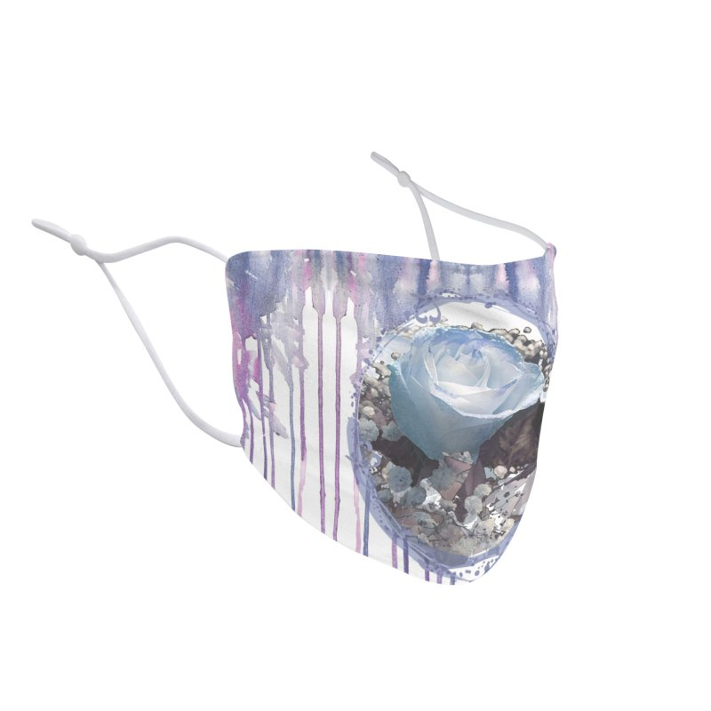 Blue Spring Rose Accessories Face Mask by Deanna Kei's Artist Shop