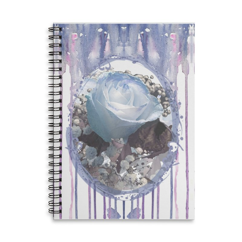 Blue Spring Rose Accessories Lined Spiral Notebook by Deanna Kei's Artist Shop