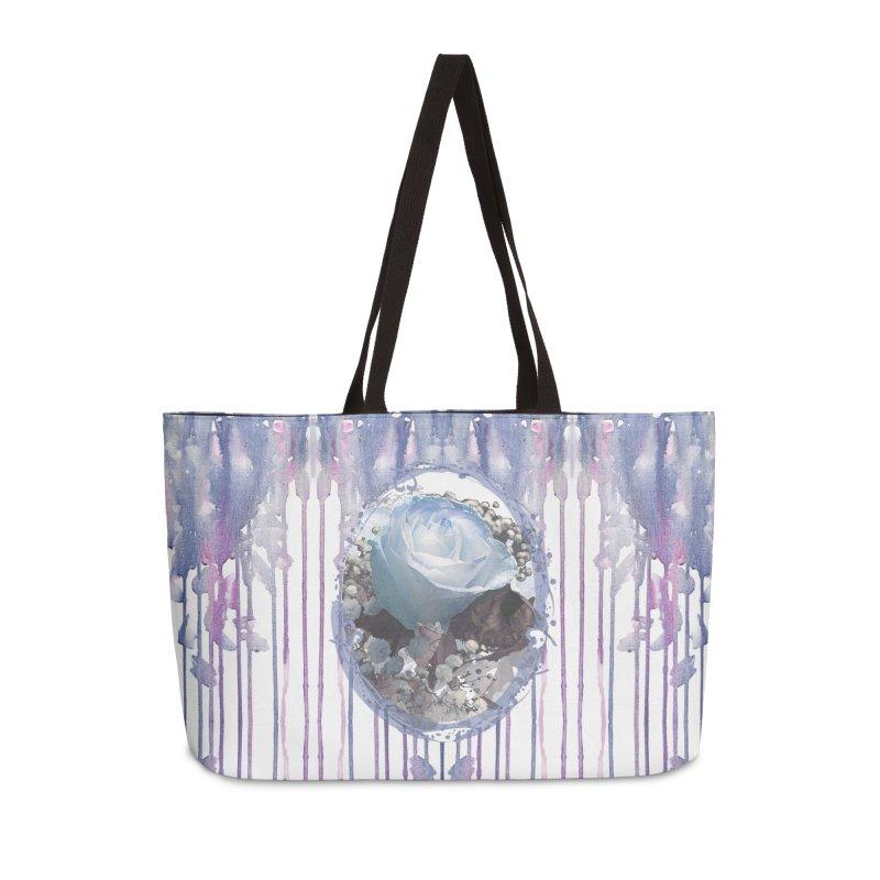 Blue Spring Rose Accessories Weekender Bag Bag by Deanna Kei's Artist Shop