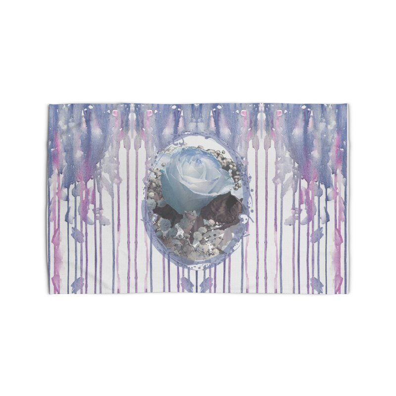 Blue Spring Rose Home Rug by Deanna Kei's Artist Shop