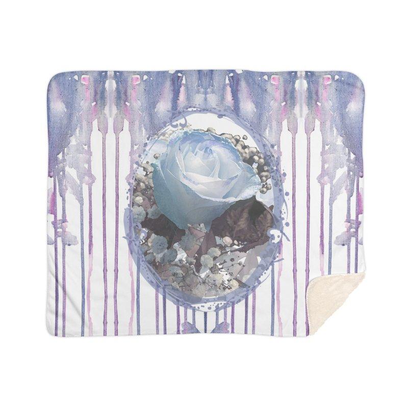 Blue Spring Rose Home Blanket by Deanna Kei's Artist Shop