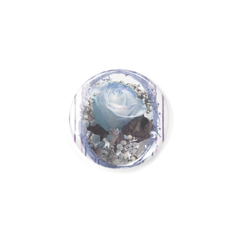 Blue Spring Rose Accessories Button by Deanna Kei's Artist Shop