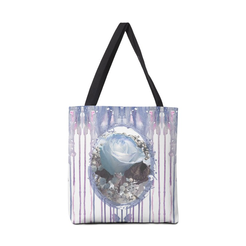 Blue Spring Rose Accessories Tote Bag Bag by Deanna Kei's Artist Shop