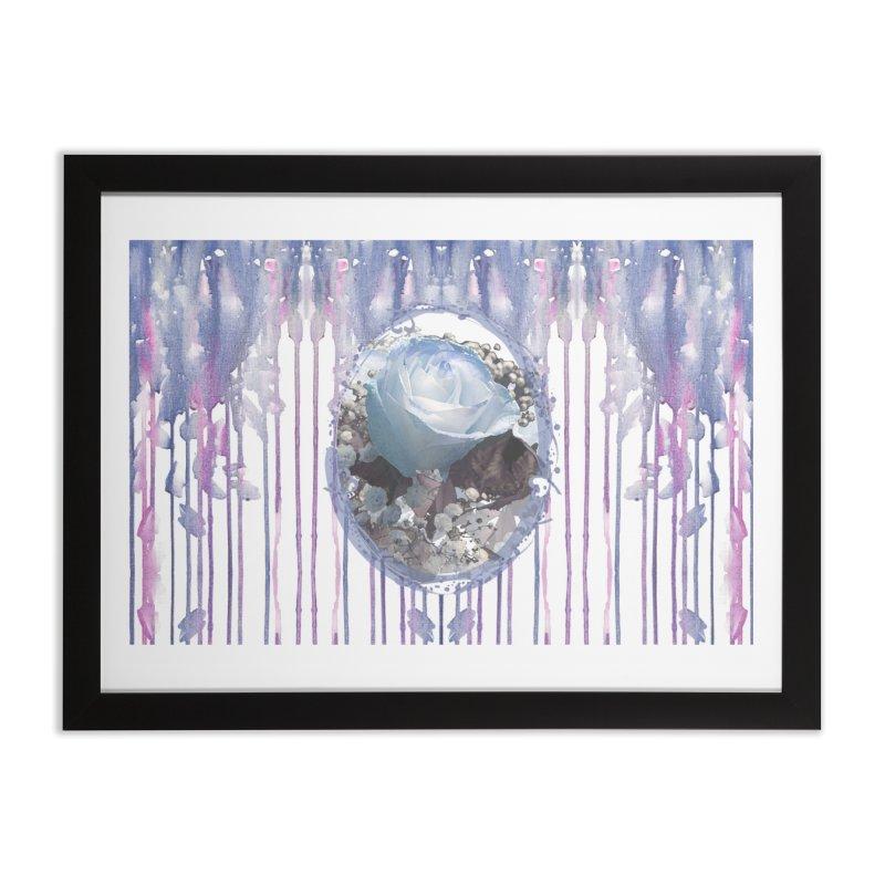 Blue Spring Rose Home Framed Fine Art Print by Deanna Kei's Artist Shop