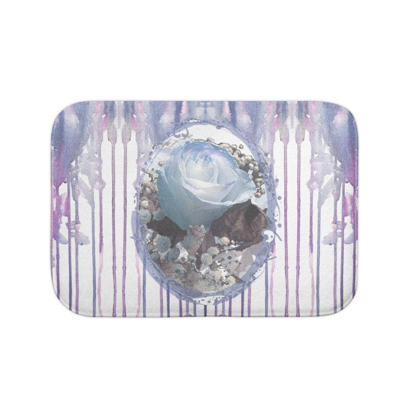 Blue Spring Rose Home Bath Mat by Deanna Kei's Artist Shop