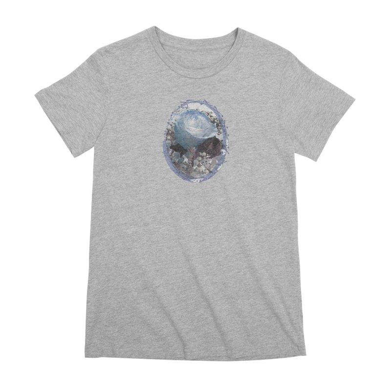 Blue Spring Rose Women's Premium T-Shirt by Deanna Kei's Artist Shop