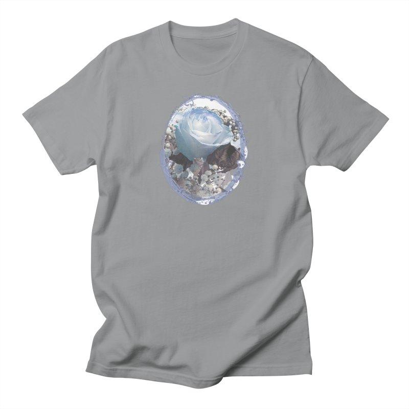 Blue Spring Rose Men's T-Shirt by Deanna Kei's Artist Shop