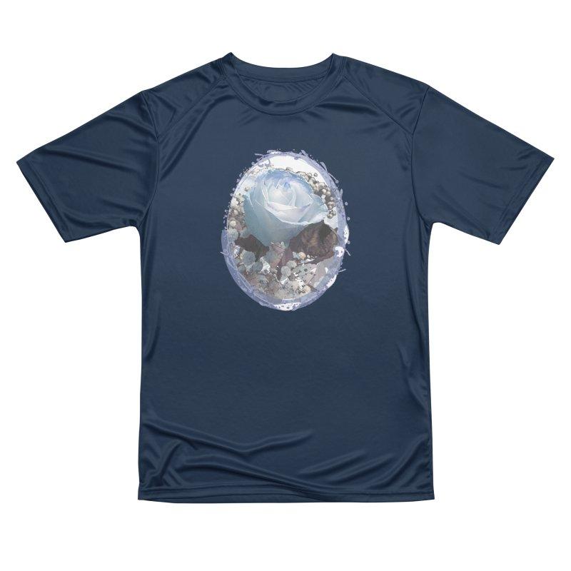 Blue Spring Rose Women's Performance Unisex T-Shirt by Deanna Kei's Artist Shop