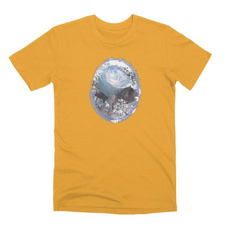 Blue Spring Rose Men's Premium T-Shirt by Deanna Kei's Artist Shop