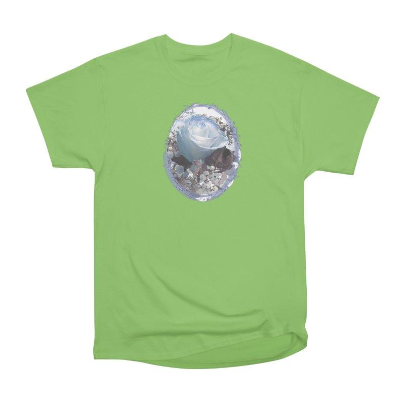 Blue Spring Rose Men's Heavyweight T-Shirt by Deanna Kei's Artist Shop