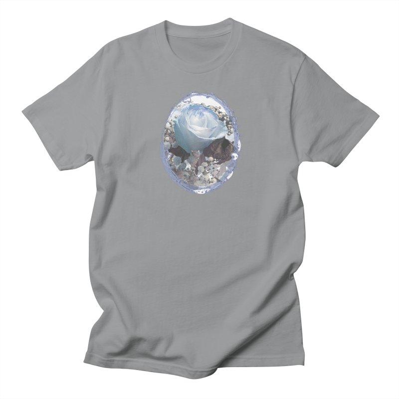 Blue Spring Rose Women's Regular Unisex T-Shirt by Deanna Kei's Artist Shop