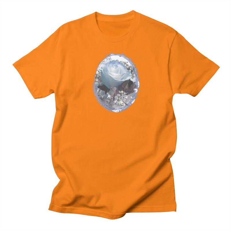 Blue Spring Rose Men's Regular T-Shirt by Deanna Kei's Artist Shop