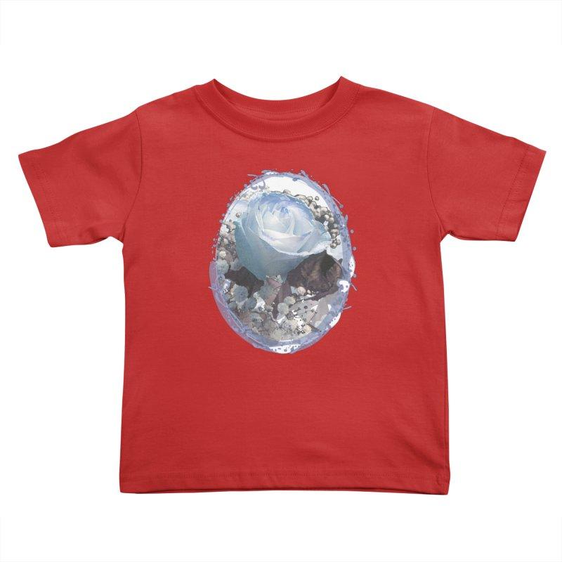Blue Spring Rose Kids Toddler T-Shirt by Deanna Kei's Artist Shop