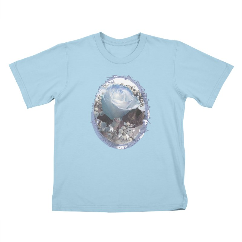 Blue Spring Rose Kids T-Shirt by Deanna Kei's Artist Shop
