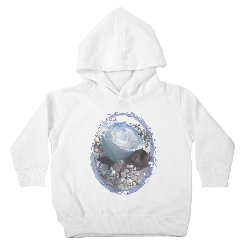 Blue Spring Rose Kids Toddler Pullover Hoody by Deanna Kei's Artist Shop
