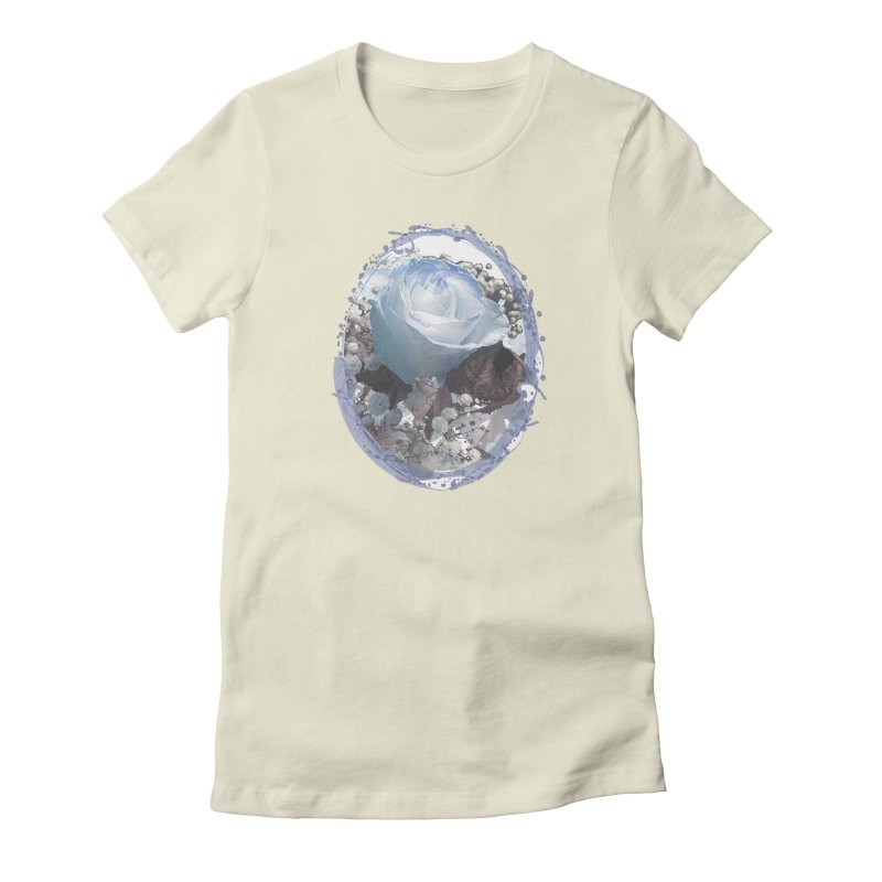 Blue Spring Rose Women's Fitted T-Shirt by Deanna Kei's Artist Shop
