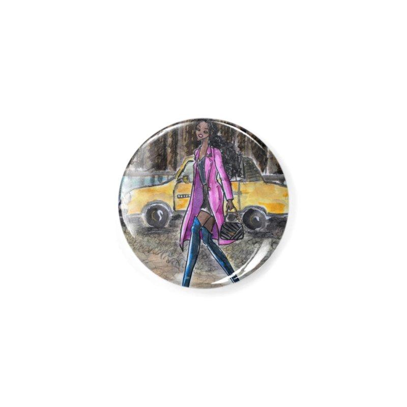 NY Girl - Taxi - Dusk Accessories Button by Deanna Kei's Artist Shop