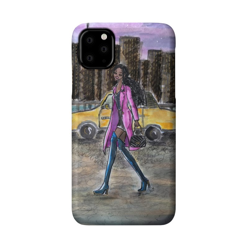 NY Girl - Taxi - Dusk Accessories Phone Case by Deanna Kei's Artist Shop