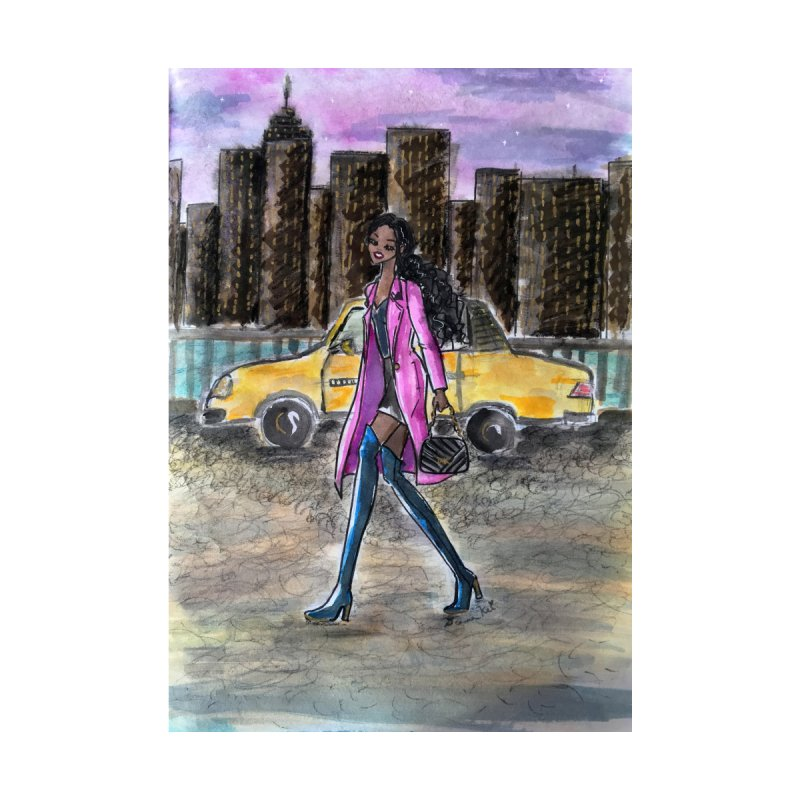 NY Girl - Taxi - Dusk by Deanna Kei's Artist Shop