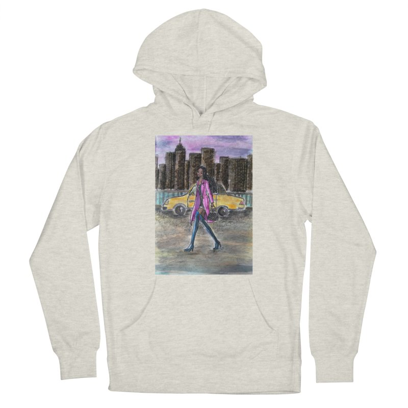 NY Girl - Taxi - Dusk Women's French Terry Pullover Hoody by Deanna Kei's Artist Shop