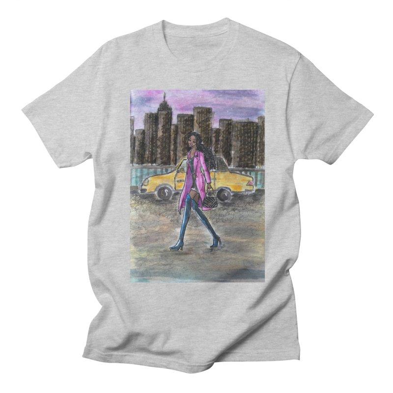 NY Girl - Taxi - Dusk Men's Regular T-Shirt by Deanna Kei's Artist Shop