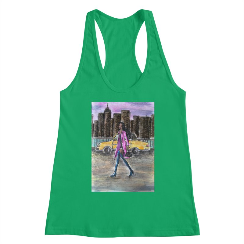 NY Girl - Taxi - Dusk Women's Tank by Deanna Kei's Artist Shop