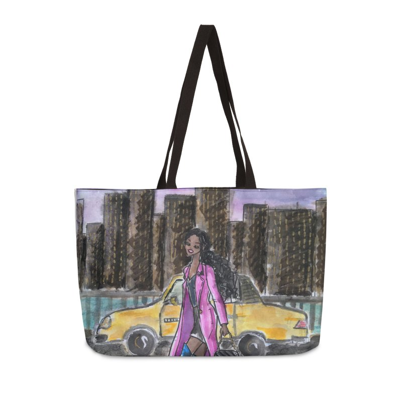 NY Girl - Taxi - Dusk Accessories Weekender Bag Bag by Deanna Kei's Artist Shop