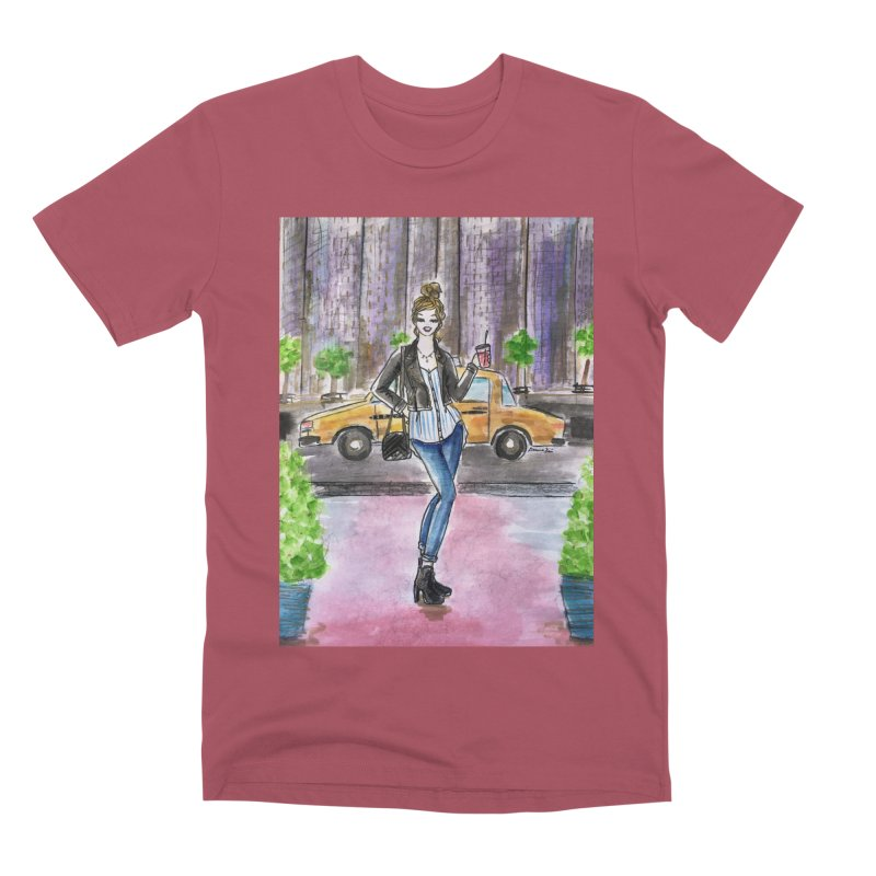 NYC Spring time Taxi Ride Men's Premium T-Shirt by Deanna Kei's Artist Shop
