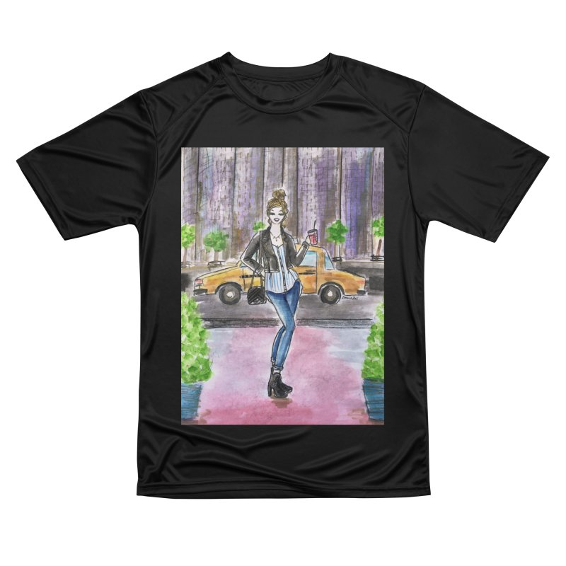 NYC Spring time Taxi Ride Men's Performance T-Shirt by Deanna Kei's Artist Shop