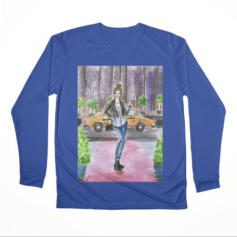 NYC Spring time Taxi Ride Women's Performance Unisex Longsleeve T-Shirt by Deanna Kei's Artist Shop