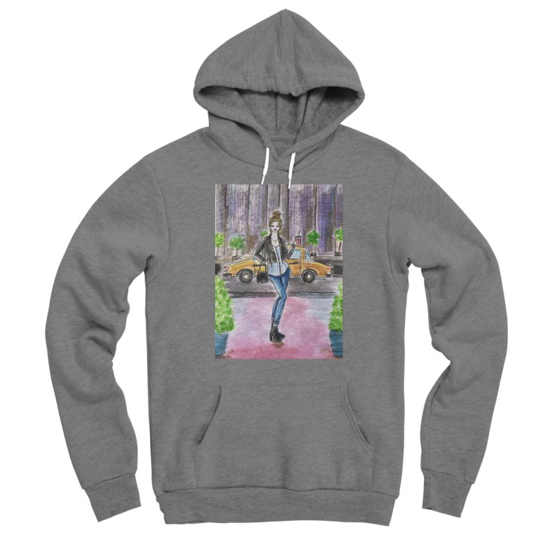 NYC Spring time Taxi Ride Women's Sponge Fleece Pullover Hoody by Deanna Kei's Artist Shop