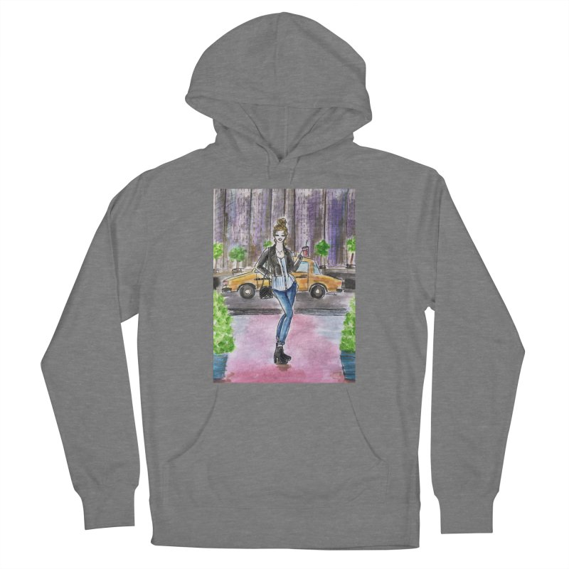 NYC Spring time Taxi Ride Women's Pullover Hoody by Deanna Kei's Artist Shop